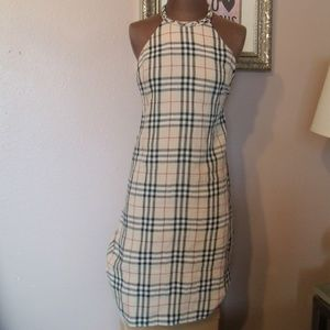 Burberry Check Linen Halter Dress